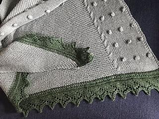 Teststrikket i Lana Grossa slow wool lino