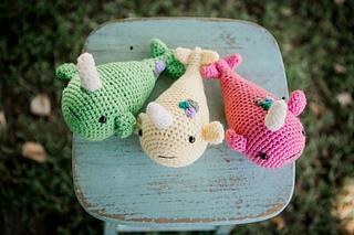 Cute Amigurumi Narwhals Free Crochet Patterns | 213x320