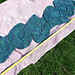 Damask Blue Shaped Scarf pattern