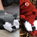 Grey Wolf/Red Fox Convertible Mittens pattern
