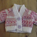 Double knit V-neck raglan premature baby cardigan pattern