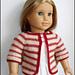 Matilda Cardigan - 18 Inch American Girl Doll Sweater pattern