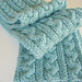 Braid Cable Reversible Hiking Scarf pattern