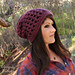 Waffle Cone Slouchy Hat pattern