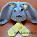 Floppy Eared Bunny Baby Hat with Mitts pattern
