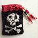 Pirate Skull Pouch pattern