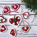 Christmas Hearts pattern