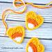 Candy Corn Heart Applique pattern