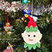 Elf Christmas Ornament, Applique pattern