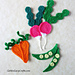 Radish, Carrot and Pea Appliques pattern