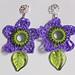 Spring Flower Crocheted Earrings pattern
