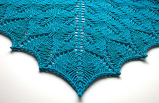 Shetland Triangle Lace Shawl pattern by Evelyn A  Clark