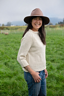 "Shown in Snoqualmie Valley Yarn, ""Natural""."