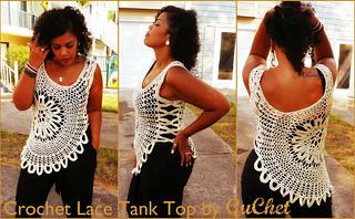 Lace Tank Top (Plus Size) pattern by Gu\'Chet