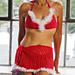 Lingerie - Christmas Bra Wrap & Hat Set pattern