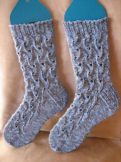 Blue Bamboo Zephyr Socks