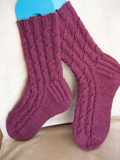 Sugar-Free Cabernet Socks