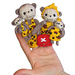 Leopards Family finger Puppets pattern