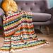 Majorelle blanket pattern