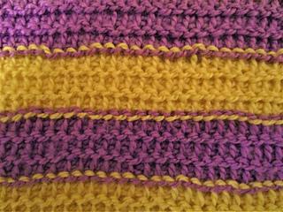 Tunisian Purl Stitch Stripes