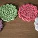 Spring Flower Coasters pattern