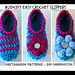 2043yt TURQUOISE SLIPPERS pattern