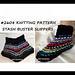 2608- Stash Buster Flat-knit Slippers pattern