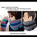 2664- Textured Cowl and Texting Gloves pattern