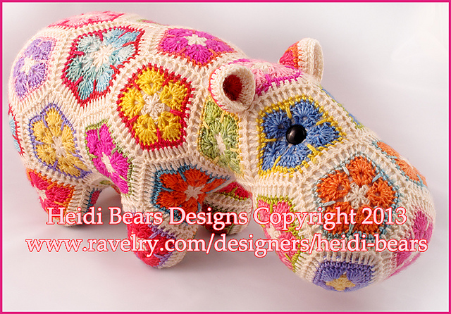 Crochet Hippo A Free Pattern Hettie the Hippo | Crochet hippo ... | 446x640