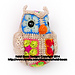 Fat Little Owl African Flower pattern
