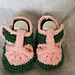 Two Tone T-Bar Baby Shoes pattern
