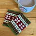 Poinsettia wrist warmers pattern