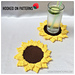 Sunflower Coasters pattern
