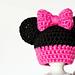 Newborn Minnie Mouse Inspired Hat pattern