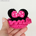 Minnie Mouse Baby Booties pattern