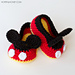 Mickey Mouse Baby Booties pattern