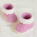 Pink Lady Baby Booties pattern