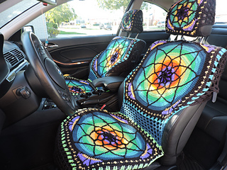 Enjoyable Vibrant Crochet Car Seat Covers Pattern By Georgia Diamantopoulos Cjindustries Chair Design For Home Cjindustriesco