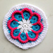 African Flower Coaster pattern