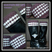 Houndstooth Boot Cuffs ~ Reversible pattern