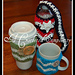 """""""Chasing Chevrons"""" Coffee & Water Bottle Cozies pattern"""