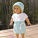 "Houndstooth 18"" Doll Cloche, Top & Skirt pattern"