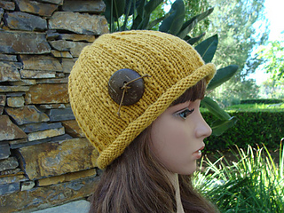 Women S Roll Up Brim Knit Hat Pattern By Mary Legere