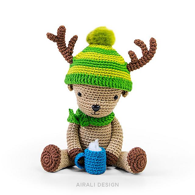 Renna natalizia amigurumi uncinetto, reindeer crochet (parte 1 ... | 640x640