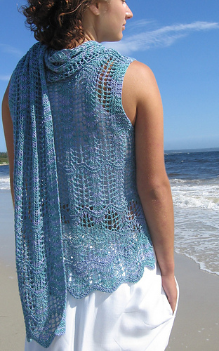 Waves of Lace with Scarf