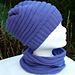 Machine knit ripple hat and cowl pattern
