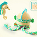Sea Biscuit the Seahorse Hat and Amigurumi pattern
