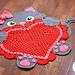 Sassy the Kitty Cat Heart Rug pattern