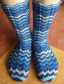 Socken mit Missoni-Zacken