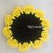Easy sunflower coaster pattern